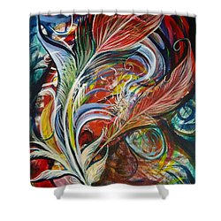 Feather Fury Shower Curtain