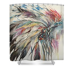 Feather Hawk Shower Curtain