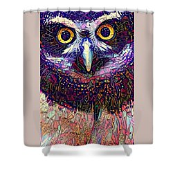 Feather Jeweled Shower Curtain by Geri Glavis