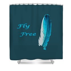 Feather Of Free Flight Shower Curtain