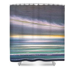 Feather Panoramic Sunset Shower Curtain