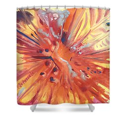 Feathers Of Fiery Orange Light Shower Curtain