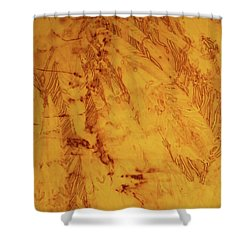 Feathers On The Wind Shower Curtain by Cynthia Powell