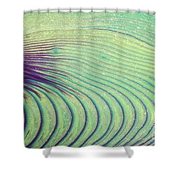 Feathery Ripples Shower Curtain