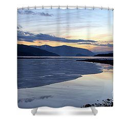 February At Dusk 5 Shower Curtain by Victor K