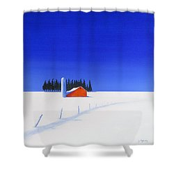 February Fields Shower Curtain