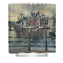February Morning Along The Amstel Shower Curtain