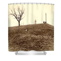 Shower Curtain featuring the photograph Federal Hill by Brian Wallace
