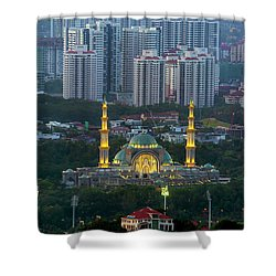 Federal Territory Mosque Shower Curtain by David Gn