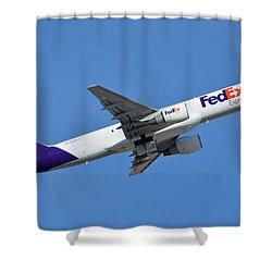 Fedex Express Boeing 757-230 N998fd Phoenix Sky Harbor January 19 2016  Shower Curtain by Brian Lockett