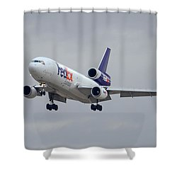 Fedex Express Mcdonnell Douglas Md-10-10f N359fe Phoenix Sky Harbor December 23 2015 Shower Curtain by Brian Lockett