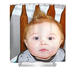 Feed Me Baby Shower Curtain