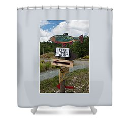 Shower Curtain featuring the photograph Feed The Trout by Suzanne Gaff