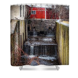 Shower Curtain featuring the photograph Feeder Canal Lock 13 by Kendall McKernon