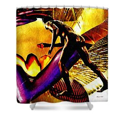 Feeding The Fire Within Shower Curtain by Sarah Loft