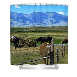 Feeding Time Shower Curtain
