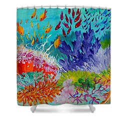 Feeding Time On The Reef #2 Shower Curtain