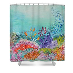 Feeding Time On The Reef Shower Curtain