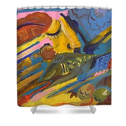 Feel Shower Curtain by Rita Fetisov