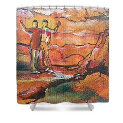 Feel The Warm Shower Curtain
