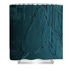 Feeling Blue Shower Curtain by DigiArt Diaries by Vicky B Fuller