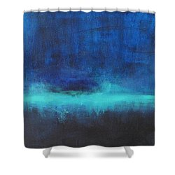 Shower Curtain featuring the painting Feeling Blue by Nicole Nadeau