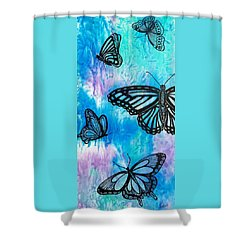 Shower Curtain featuring the painting Feeling Free by Susan DeLain