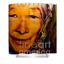 Feeling Light Within We Walk Shower Curtain