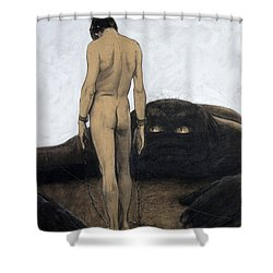 Feeling Of Dependency Shower Curtain by Sascha Sneider