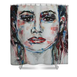 Feels Like The World Upon My Shoulders Shower Curtain