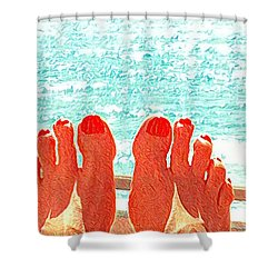 Feets Don't Fail Me Now Shower Curtain