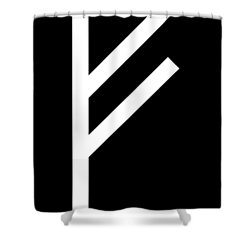 Fehu Rune Shower Curtain