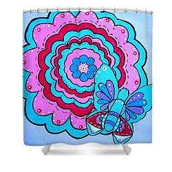 Felicity's Flower Shower Curtain