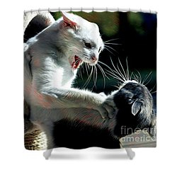 Felines Roughing It Shower Curtain