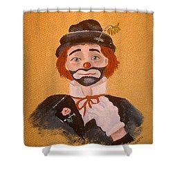 Felix The Clown Shower Curtain by Arlene  Wright-Correll