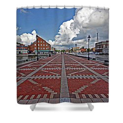 Shower Curtain featuring the photograph Fells Point Pier by Suzanne Stout