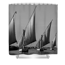 Feluccas On River Nile Shower Curtain