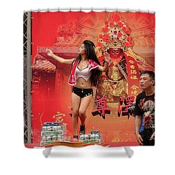 Shower Curtain featuring the photograph Female Dancer At A Temple Ceremony by Yali Shi