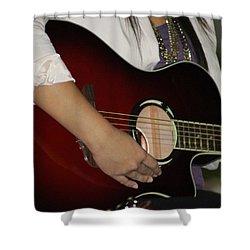 Female Guitarist Shower Curtain
