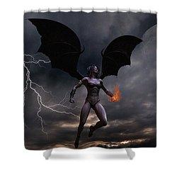 Female Vampire Shower Curtain