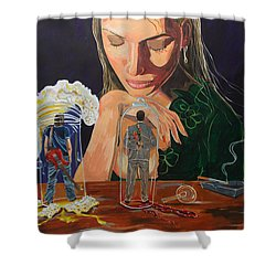 Femina Deciding Shower Curtain