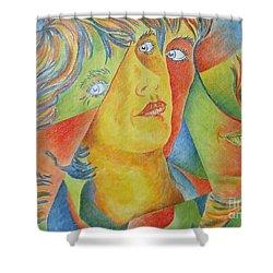 Femme Aux Trois Visages Shower Curtain