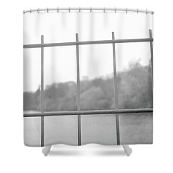 Fence Against Nature Shower Curtain