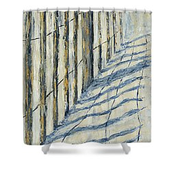 Fence At Palmetto Dunes Shower Curtain