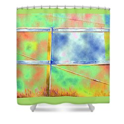 Fence Me In Colorfully Shower Curtain