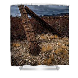 Fence Post And Storm Shower Curtain