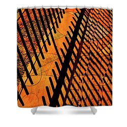 Fenced Framework Shower Curtain