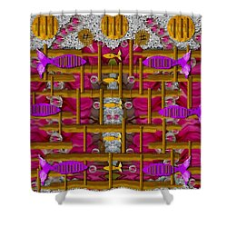 Fences Around Love In Oriental Style Shower Curtain by Pepita Selles