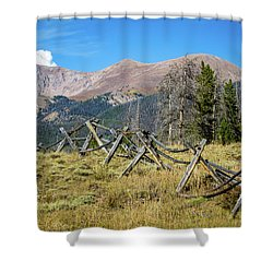 Fences Into The Rockies Shower Curtain
