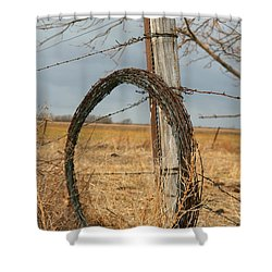 Shower Curtain featuring the photograph Fencing With My Dad by Shirley Heier